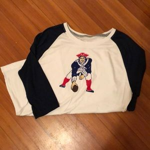 Patriots baseball t-shirt with old school logo